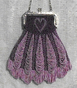Double Beaded Heart Purse Pattern