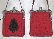 Ho Ho Ho Knitted Beaded Purse Pattern